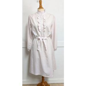 Vintage 1980s pastel stripe dress size 8